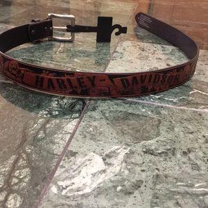 """NWT Harley Davidson Road Serpent leather belt 34"""""""